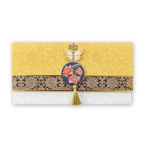 노랑 금빛 자수 축하봉투 035-ME-0051