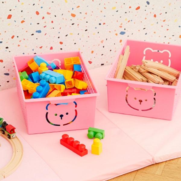 곰돌이 바스켓 대 - 핑크 53009814