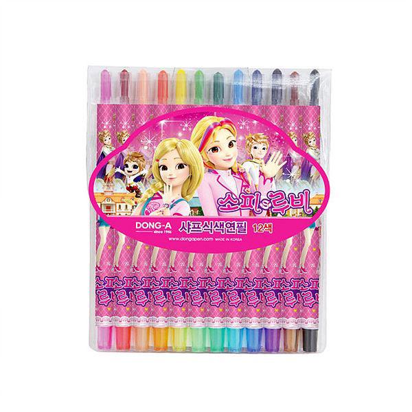샤프식 색연필 12색-소피루비 PVC