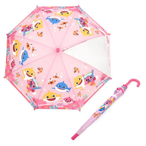 핑크퐁 47 상어가족 우산 핑크