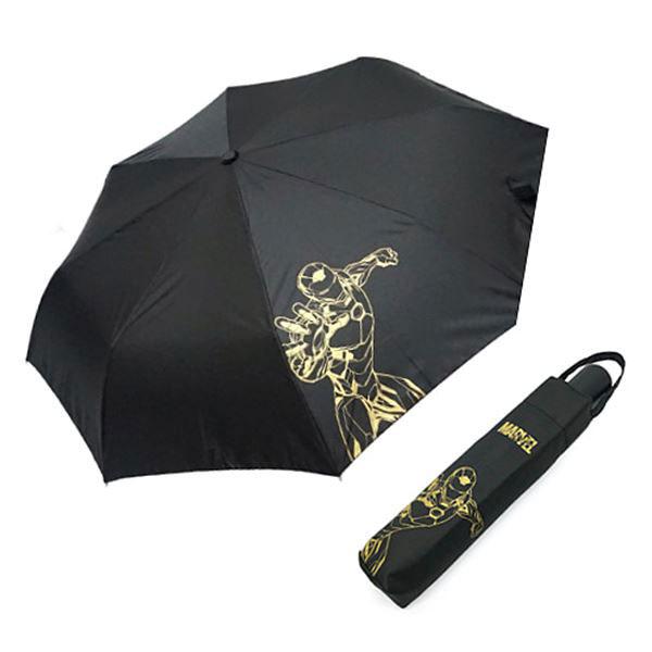 마블 아이언맨 완자 실루엣 우산 블랙