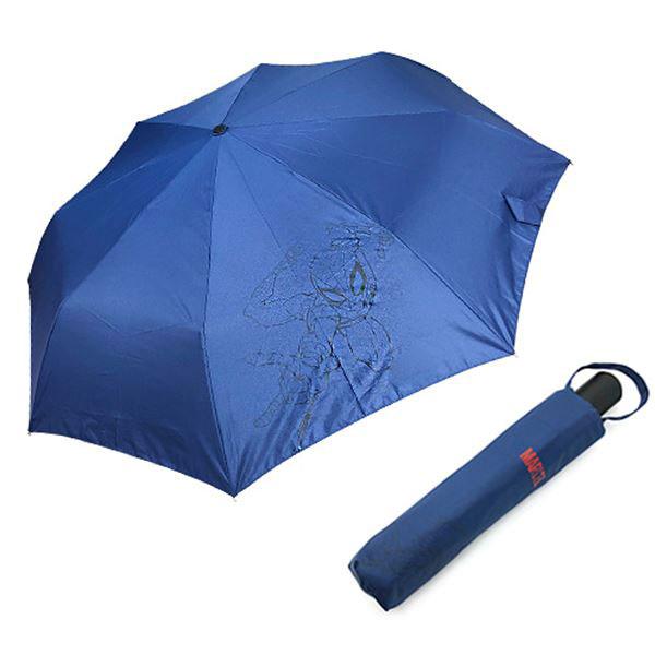 마블 스파이더맨 완자 실루엣 우산 네이비