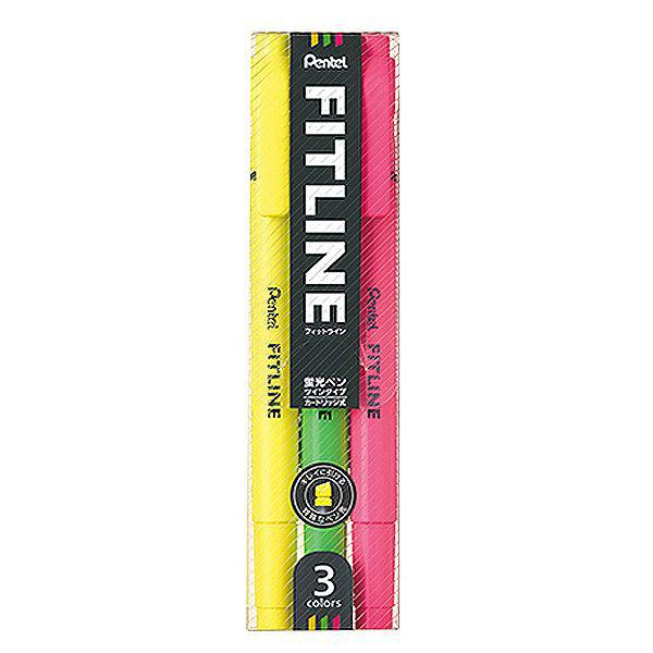 펜텔 라인형광펜 3색세트