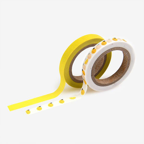 Masking tape slim 2p 10 Lemon