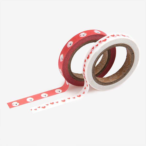 Masking tape slim 2p 12 Bichon frise