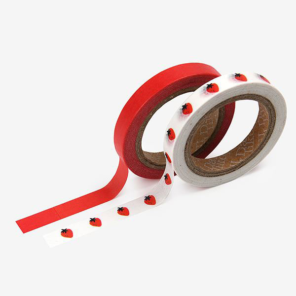 Masking tape slim 2p 17 Strawberry