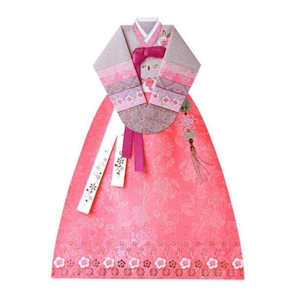 맑은꽃 자수 한복카드 030-SH-0017