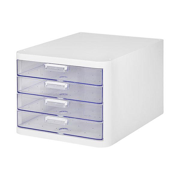 클리어 멀티 캐비넷 4단 흰색