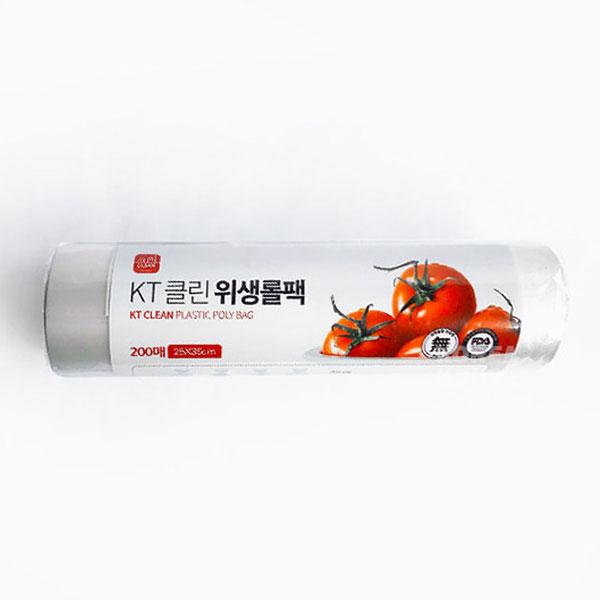 위생 롤팩 - KT클린 롤팩 200매 250X350mm