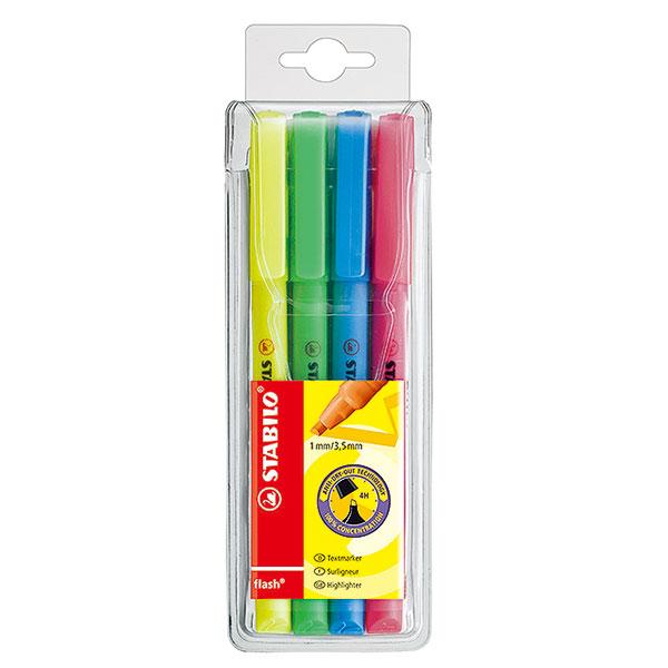 플래쉬 4색 세트 형광펜