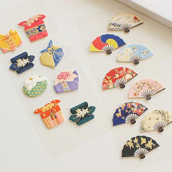 한국문화 입체스티커