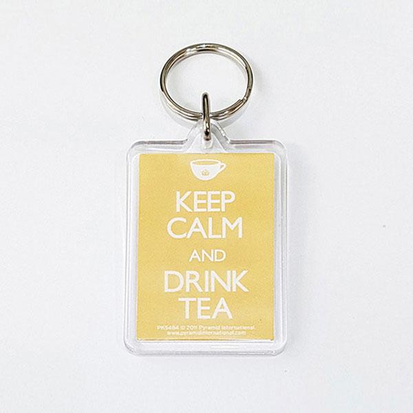 PK5484 아크릴 키링 KEEP CALM AND DRINK TEA