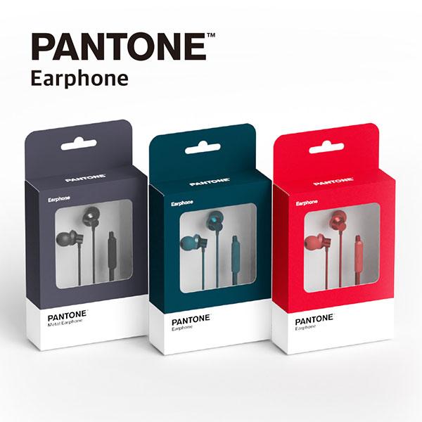 PANTONE 이어셋 P-FASHION 메탈 이어폰