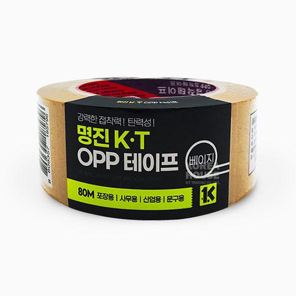 황색 OPP 강력 테이프 80M 베이지