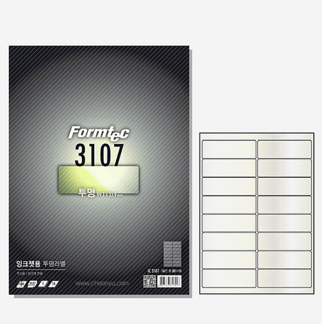 투명라벨 5매 IC-3107 잉크젯전용