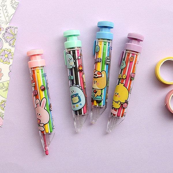 쪼꼬미친구들 8색 색연필 랜덤
