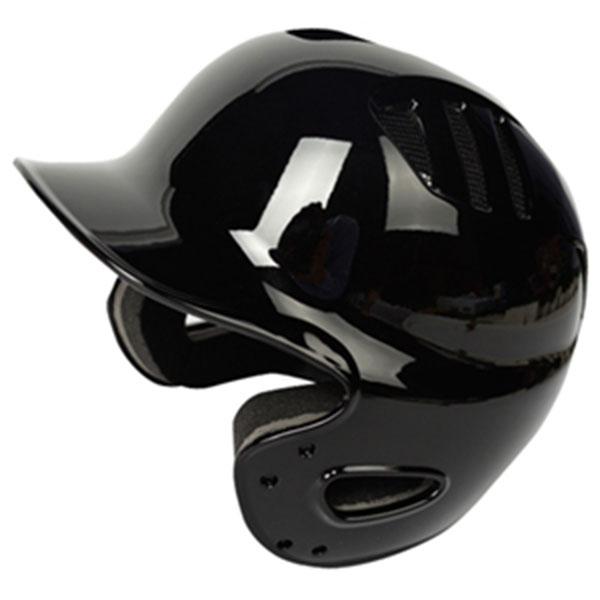 브렛 조절형 양귀 유광 타자헬멧 블랙
