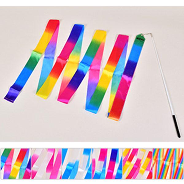 니스포 리듬체조 리본 4M 멀티컬러 6가지색상