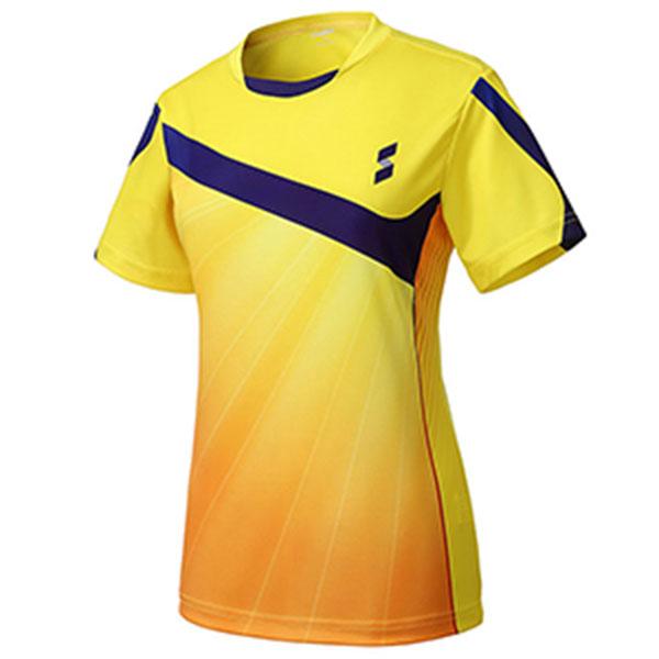 실라 여성 스타트 탁구유니폼 상의 옐로우