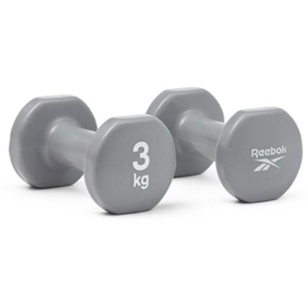 리복 덤벨 2개 1세트 RAWT-16153 3kg 그레이