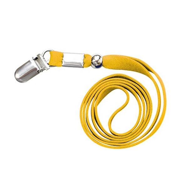 밴드링더블 클립형 명찰목걸이줄 (노랑) 10개입 1세트 (2361)