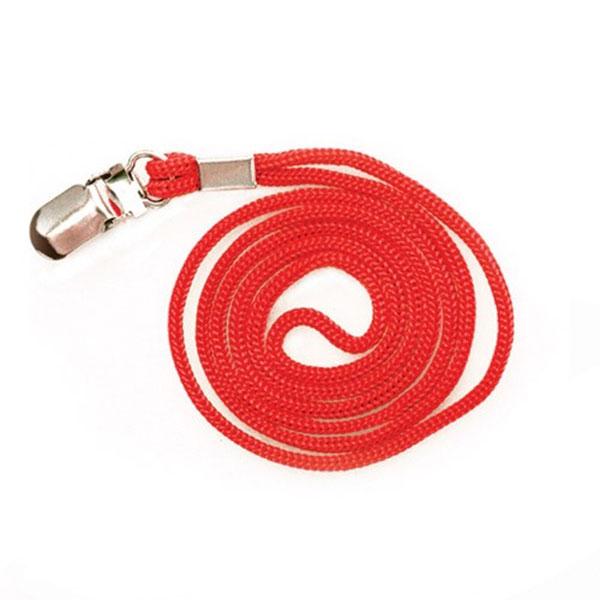 칼라목걸이줄 클립형(빨강) 50개입 1세트 (2336)