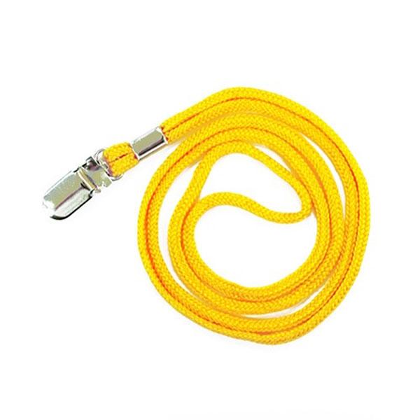 칼라목걸이줄 클립형(노랑) 50개입 1세트 (2337)