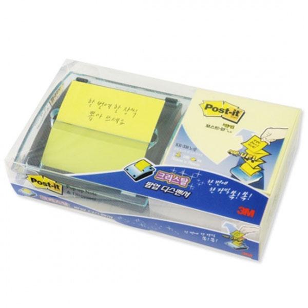 크리스탈 팝업디스펜서 포스트잇 DS-330 3M