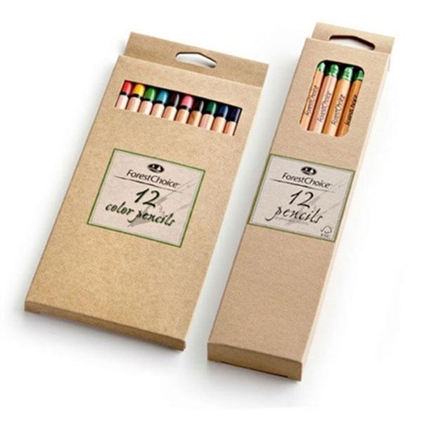 포레스트초이스색연필세트 원목 HB연필 12색색연필