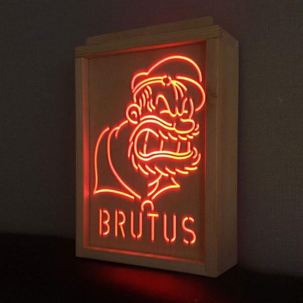 RGB 레트로 감성 부루투스 무드등 LED조명 (뽀빠이시리즈)