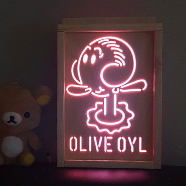 RGB 레트로 감성 올리브오일 무드등 LED조명 (뽀빠이시리즈)