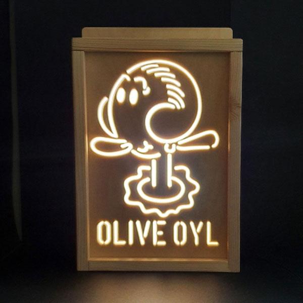 레트로 감성 올리브오일 무드등 LED조명 (뽀빠이시리즈)